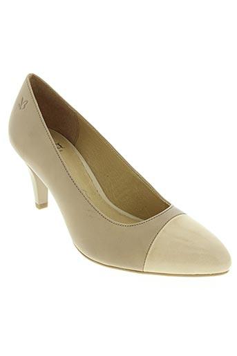 caprice chaussures femme de couleur beige