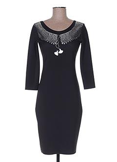 Robe mi-longue noir ANIMAPOP pour femme