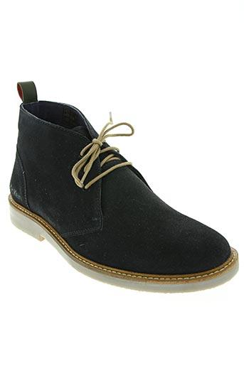 kickers chaussures homme de couleur bleu