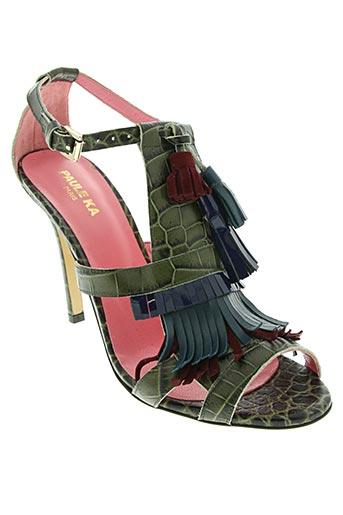 paule ka chaussures femme de couleur vert