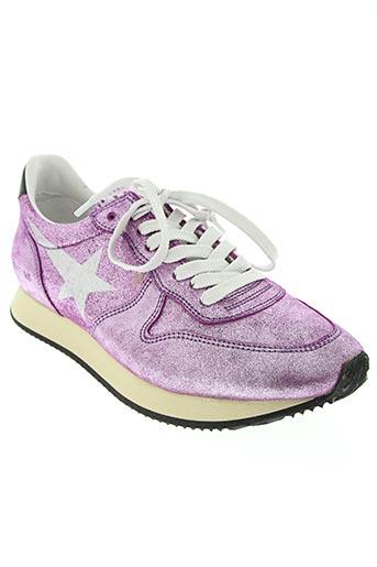 golden goose deluxe brand chaussures femme de couleur rose