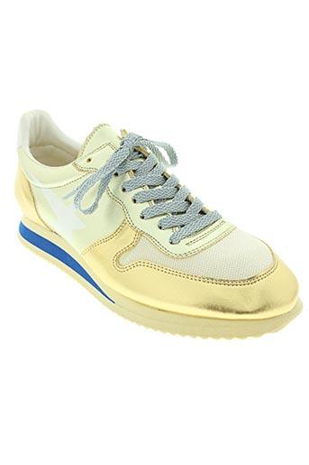 golden goose deluxe brand chaussures femme de couleur jaune