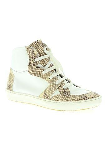 ni max chaussures fille de couleur blanc