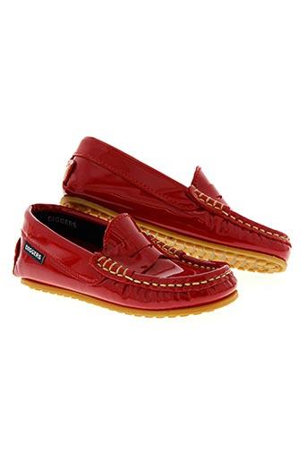 diggers chaussures fille de couleur rouge