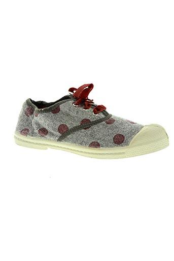bensimon chaussures fille de couleur gris