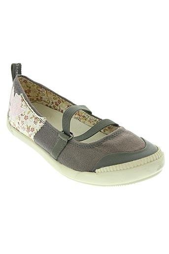 palladium chaussures fille de couleur gris