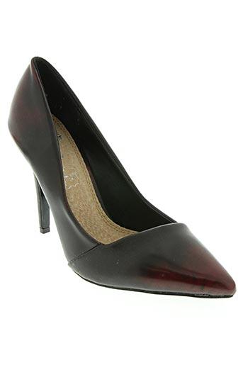 cassis chaussures femme de couleur rouge