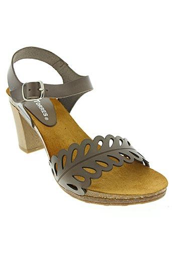 pedro torres chaussures femme de couleur marron