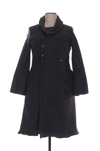 Manteau long gris ALICE ET BARNABE pour femme