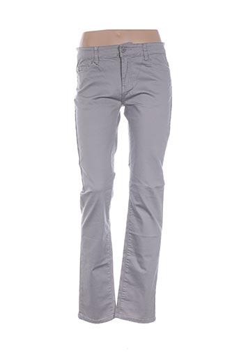 Pantalon casual gris BS JEANS pour femme