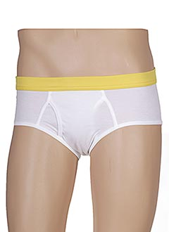 Slip/Culotte jaune THE WHITE BRIEFS pour homme