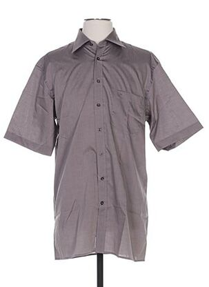 Chemise manches courtes marron SEIDEN STICKER pour homme