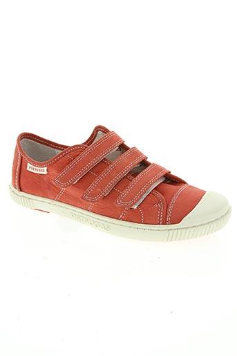 pataugas chaussures garçon de couleur rouge