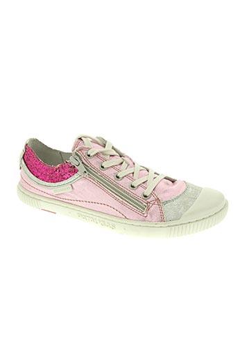 pataugas chaussures fille de couleur rose