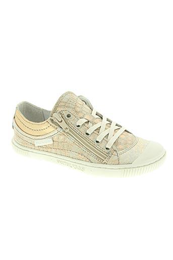 pataugas chaussures fille de couleur beige