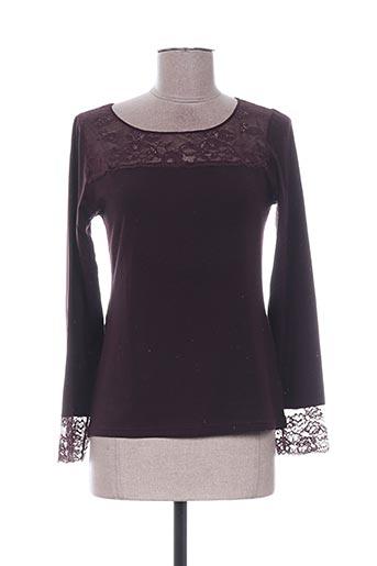 T-shirt manches longues violet AVET pour femme
