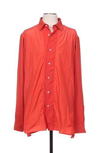 Chemise manches longues orange GALLIANO pour homme