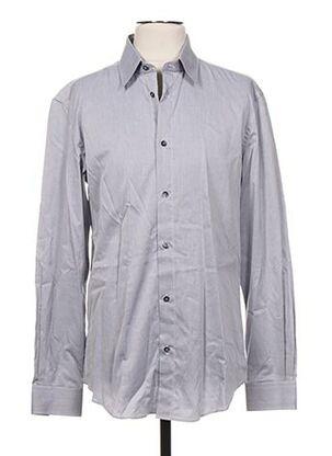 Chemise manches longues gris GALLIANO pour homme
