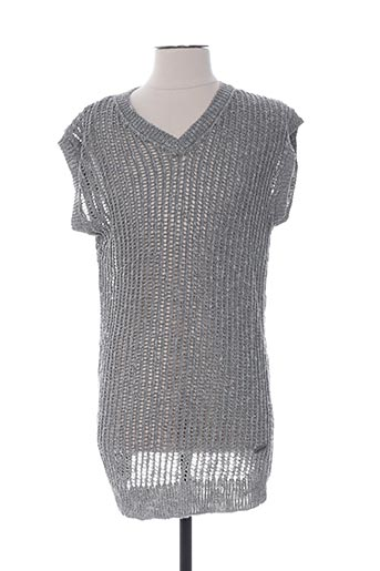 Pull col V gris GALLIANO pour homme