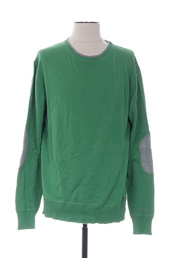 Pull col rond vert GALLIANO pour homme