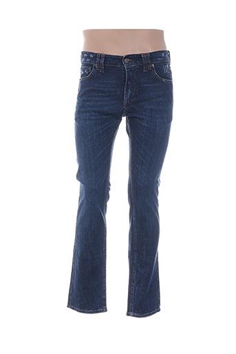 Jeans coupe droite bleu GALLIANO pour homme