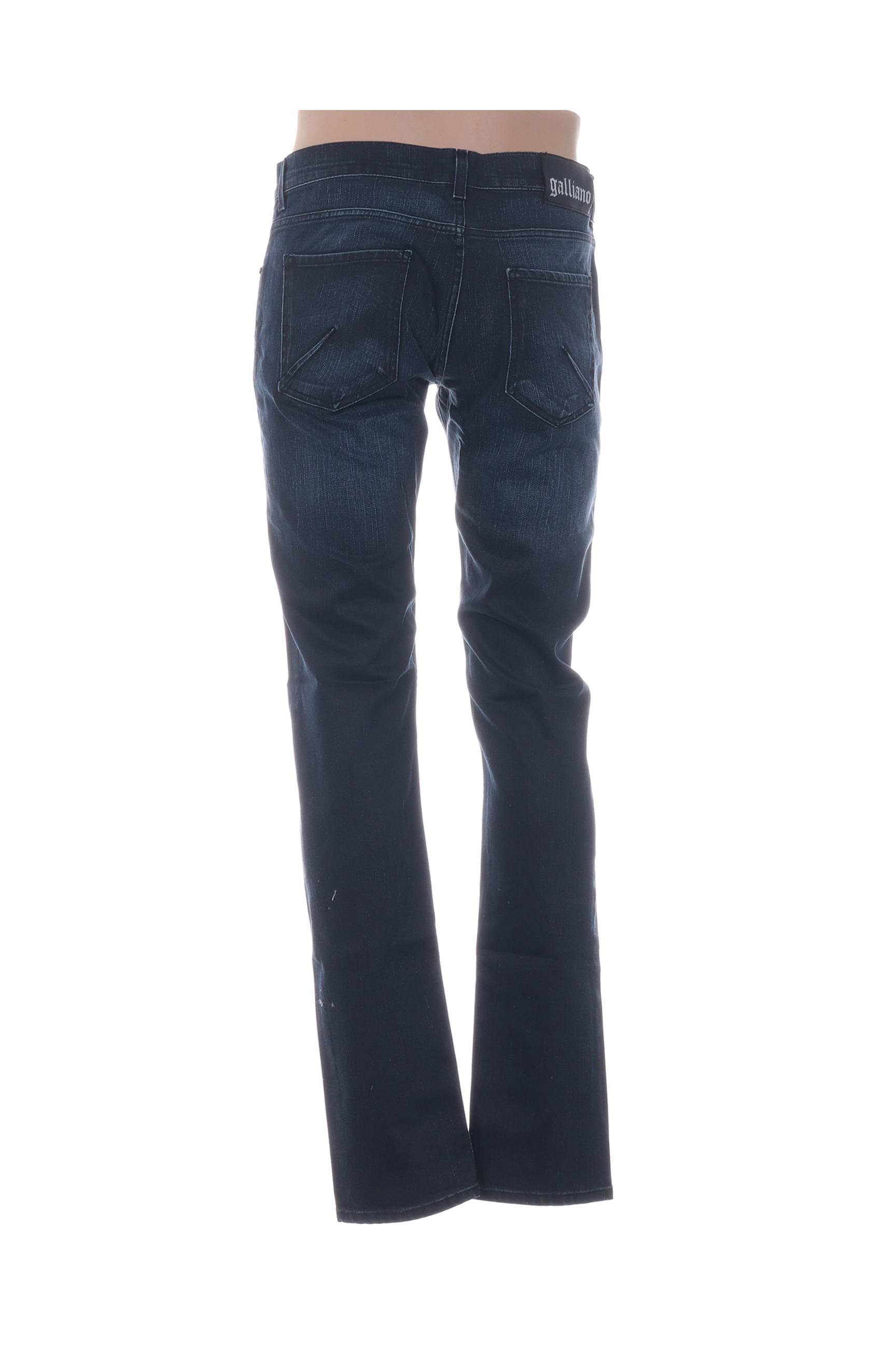 Galliano Jeans Coupe Droite Homme De Couleur Bleu En Soldes Pas Cher 1294142-bleu00