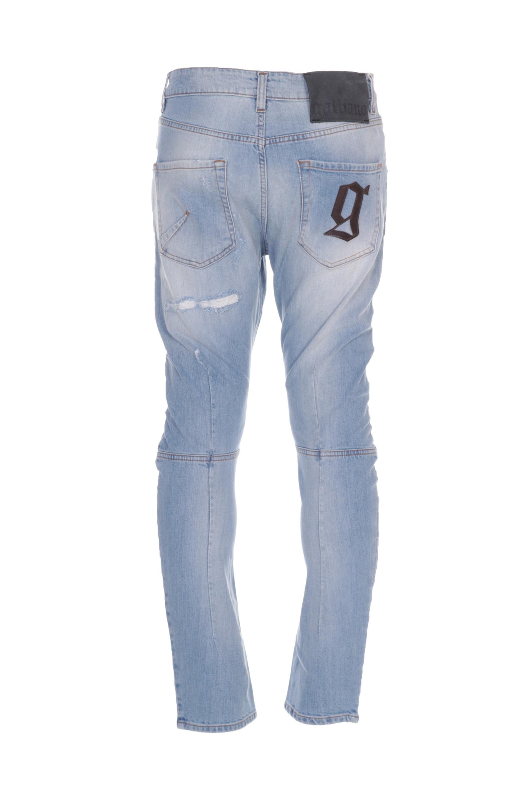 Galliano Jeans Coupe Slim Homme De Couleur Bleu En Soldes Pas Cher 1293323-bleu00