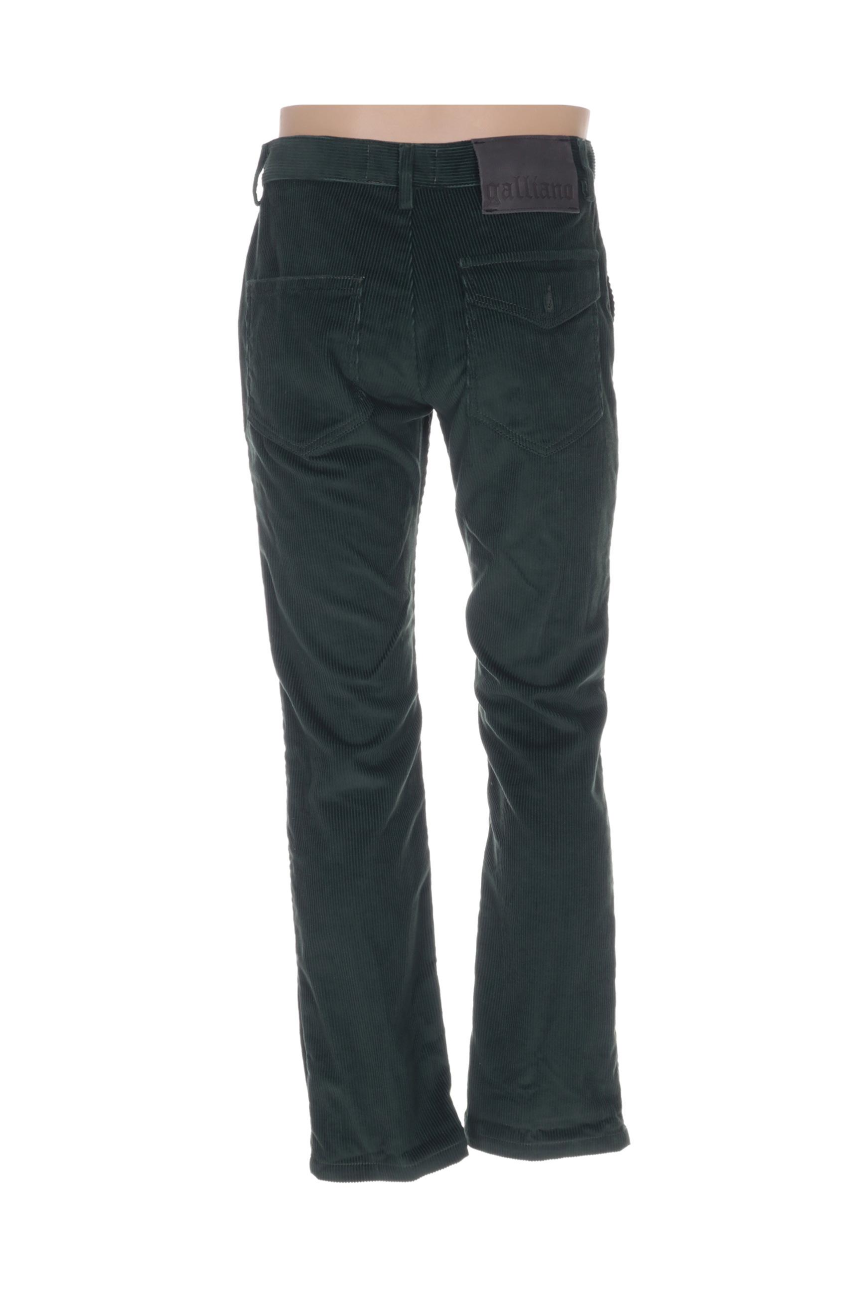 Galliano Pantalons Decontractes Homme De Couleur Vert En Soldes Pas Cher 1297793-vert00