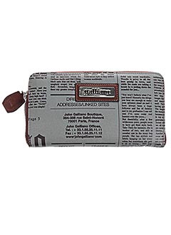 Portefeuille gris GALLIANO pour femme