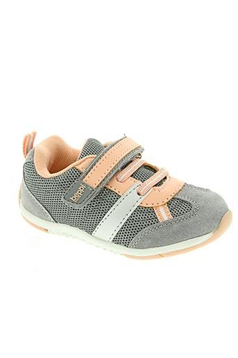 beppi chaussures fille de couleur gris