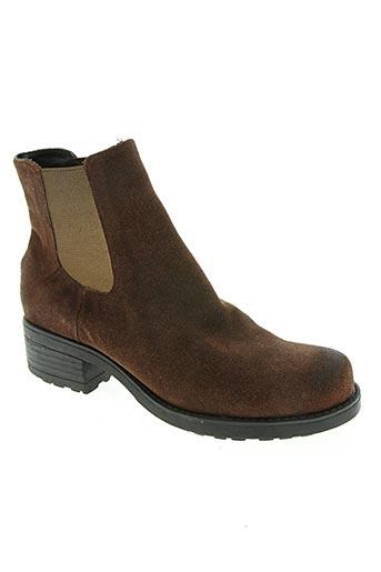 Bottines/Boots marron AXELL pour femme