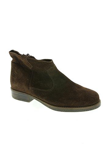 unisa chaussures enfant de couleur marron