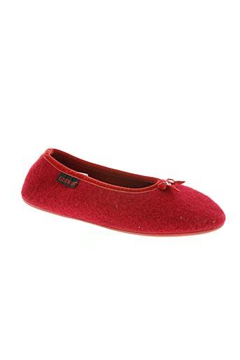 giesswein chaussures femme de couleur rouge