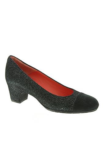 pas de rouge chaussures femme de couleur noir