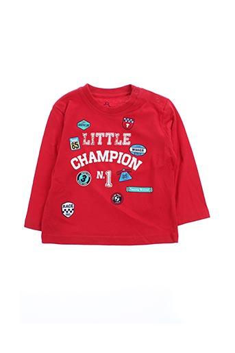 T-shirt manches longues rouge LOSAN pour garçon
