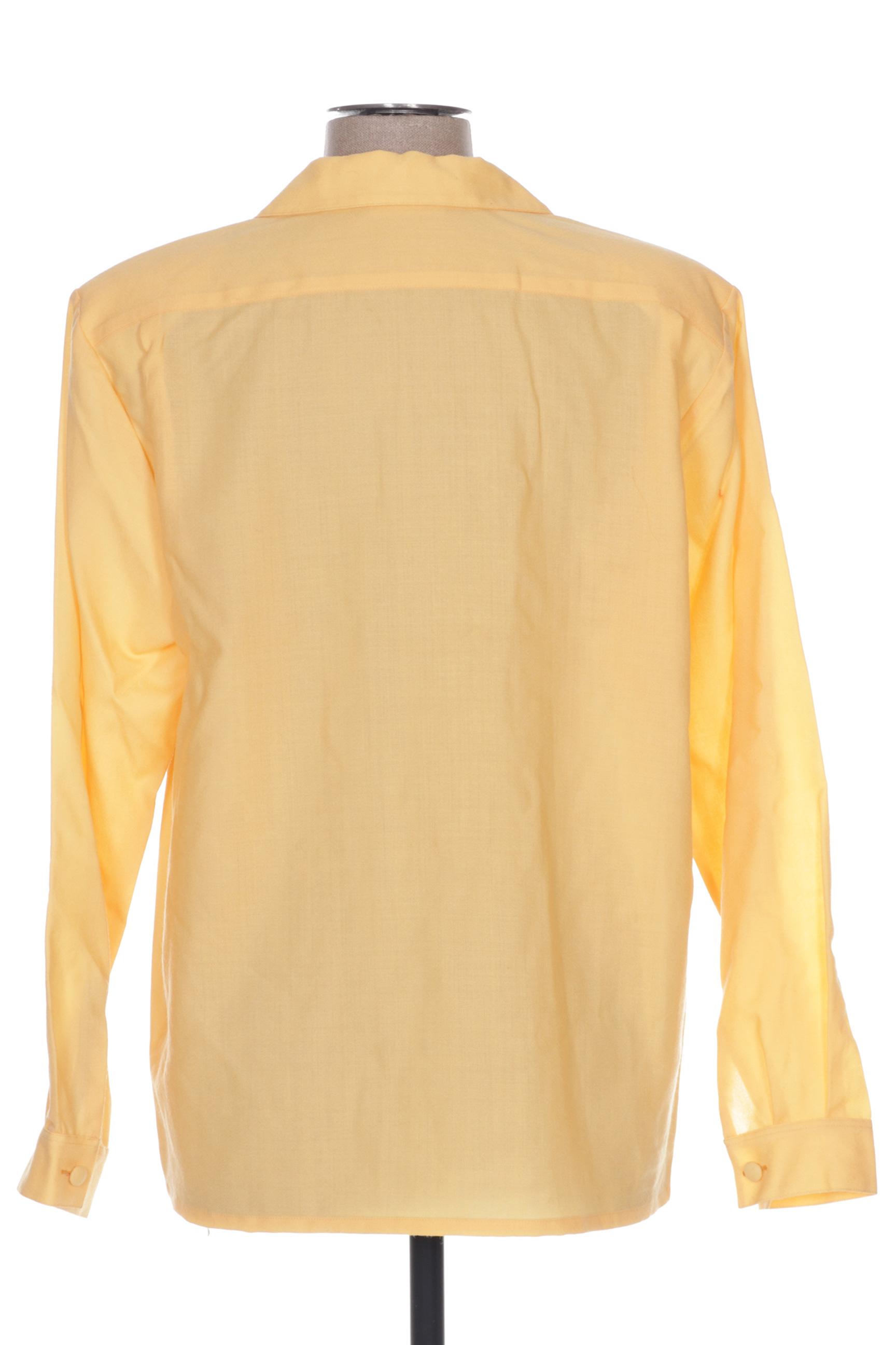 Claude De Saivre Chemisiers Manches Longues Femme Couleur Jaune En Soldes Pas Cher 1294571-jaune0