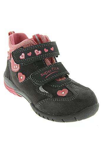 super fit chaussures fille de couleur gris