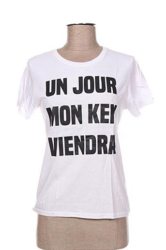 T-shirt manches courtes blanc DE PARIS & FIVE.PARIS pour femme