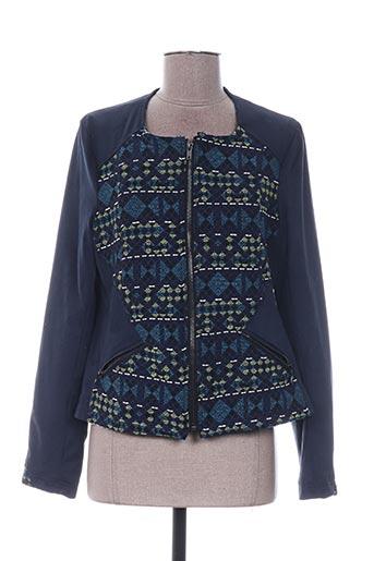 Veste casual bleu QUATTRO pour femme