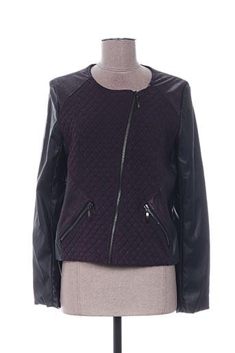 Veste simili cuir violet QUATTRO pour femme