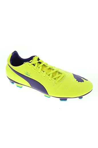 puma chaussures homme de couleur jaune