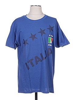T-shirt manches courtes bleu HOLIPROM pour homme