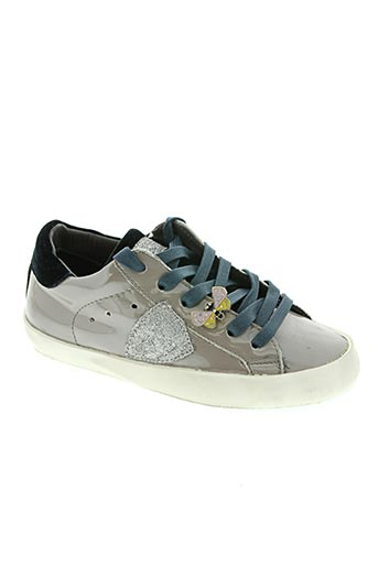 philippe model chaussures fille de couleur gris