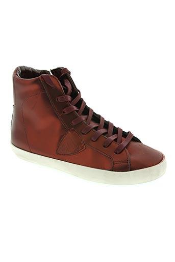 philippe model chaussures fille de couleur rouge