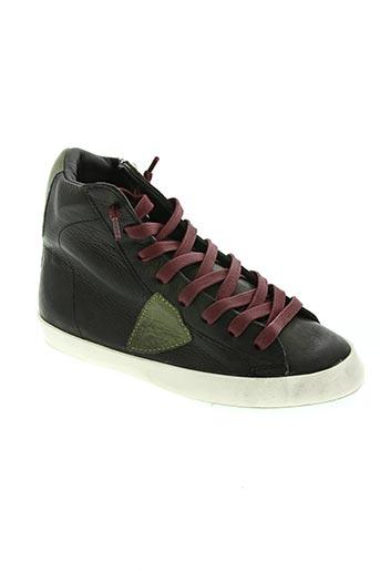 philippe model chaussures fille de couleur noir