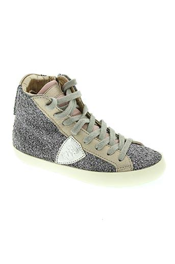 philippe model chaussures fille de couleur violet