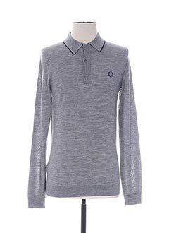 Polo manches longues gris FRED PERRY pour femme