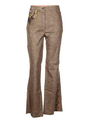 Pantalon casual vert CHRISTIAN LLINARES JEANS pour femme