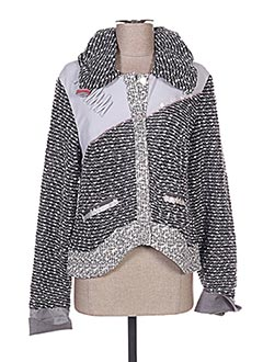 Veste casual gris ENJOY pour femme