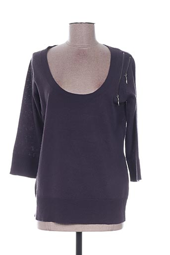 Pull col rond gris EMOI BY EMONITE pour femme